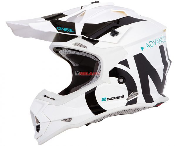 ONEAL Helm: 2Series, Slick, weiß/schwarz