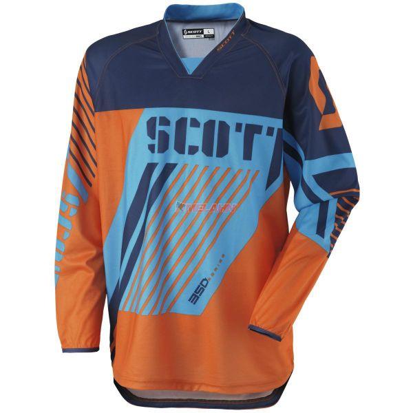 SCOTT Hemd: 350 Track, orange/blau