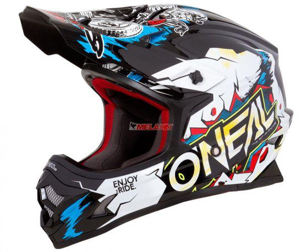 ONEAL Kids Helm: 3Series, VILLAIN, weiß/multi