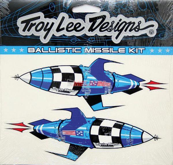 TROY LEE DESIGNS Aufkleber-Kit: Ballistic Missile, blau