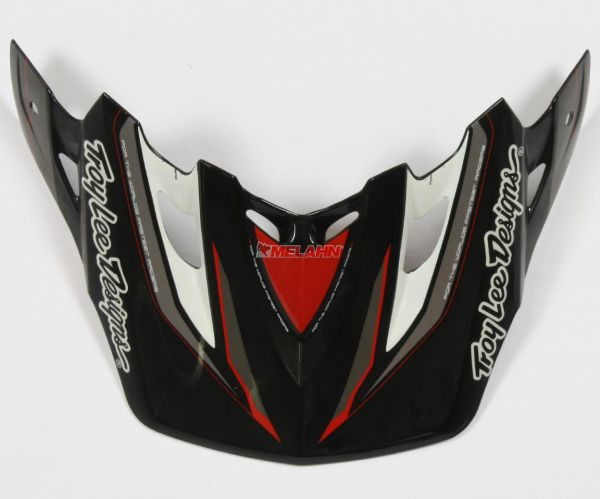 TROY LEE DESIGNS Helmschirm: Visor SE2 Warped, Visor Schwarz