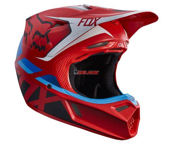 FOX Helm: V3 Seca, rot
