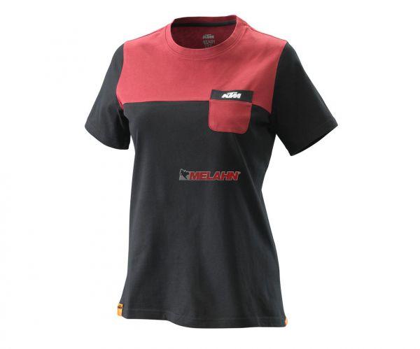 KTM Girls T-Shirt: Pure, schwarz/bordeaux