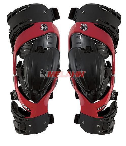 ASTERISK Knee Brace (Paar): CELL™ Strap, rot