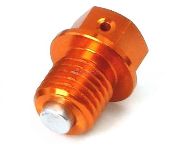 ZETA Aluminium-Ölablassschraube magnetisch M12x12 1.5 für KTM, orange