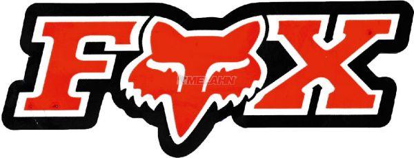 FOX Aufkleber: Corporate 7,5x2,5cm, rot