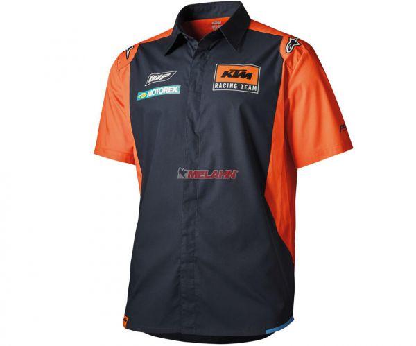 KTM Pit-Shirt: Replica Team, blau/orange