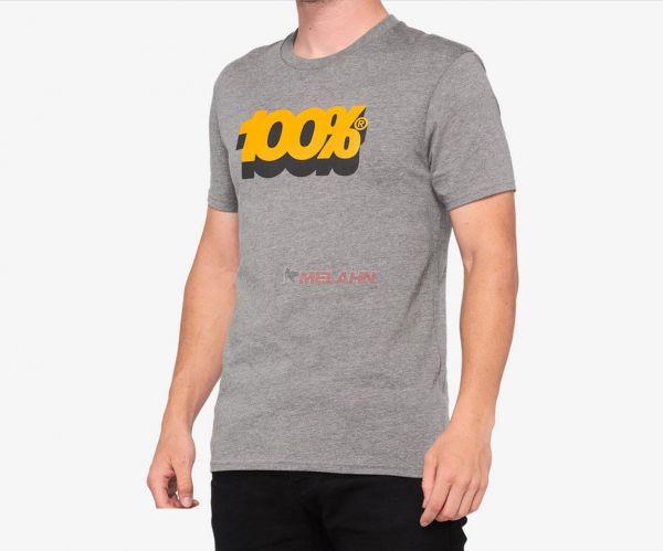 100% T-Shirt: Volta, heather grey