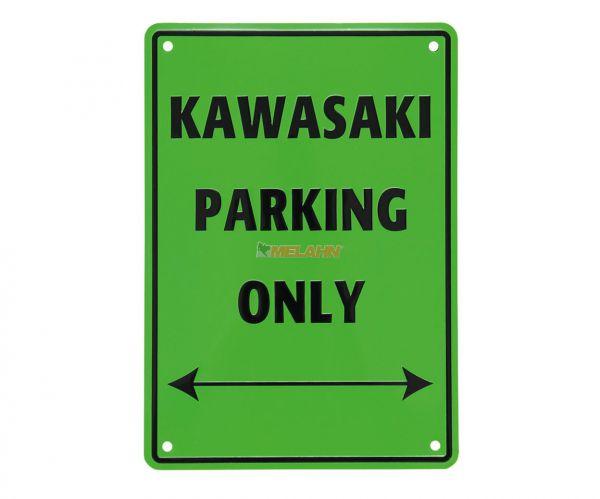 MT Metallschild: Kawasaki Parking Only