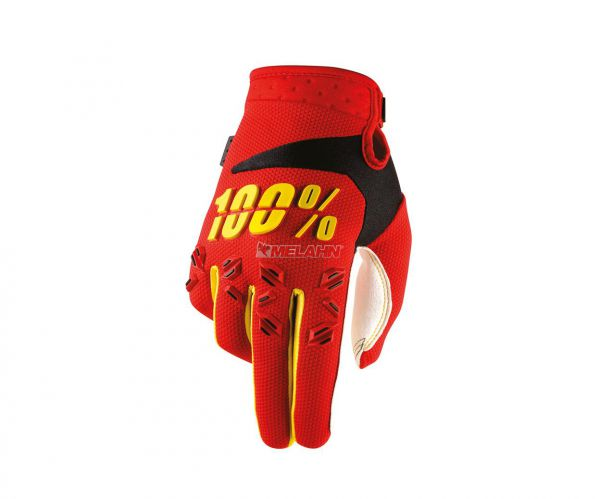 100% Handschuh: Airmatic , rot/gelb