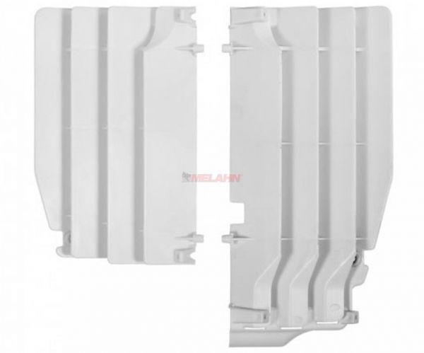 POLISPORT Kühlerschutz (Paar) HVA (außer TC 250) / KTM SX (außer 250 2T) 16-18, weiß