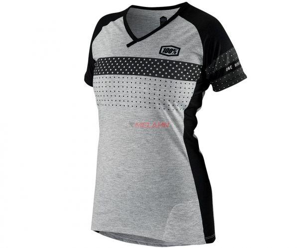 100% Girls MTB-Jersey: Airmatic, schwarz/grau