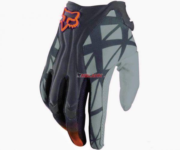 FOX Handschuh.: Flexair, grau-orange