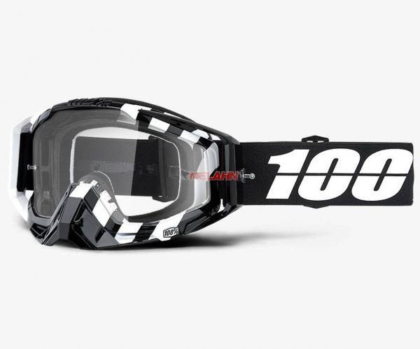 100% Brille: Racecraft Alta, schwarz/weiß
