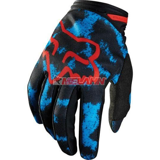 FOX Girls Handschuh: Dirtpaw Print, blau/rot