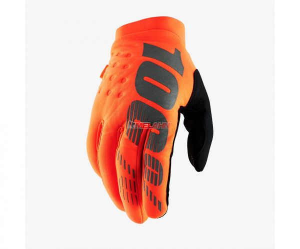 100% Handschuh: Brisker, Neopren, orange/black