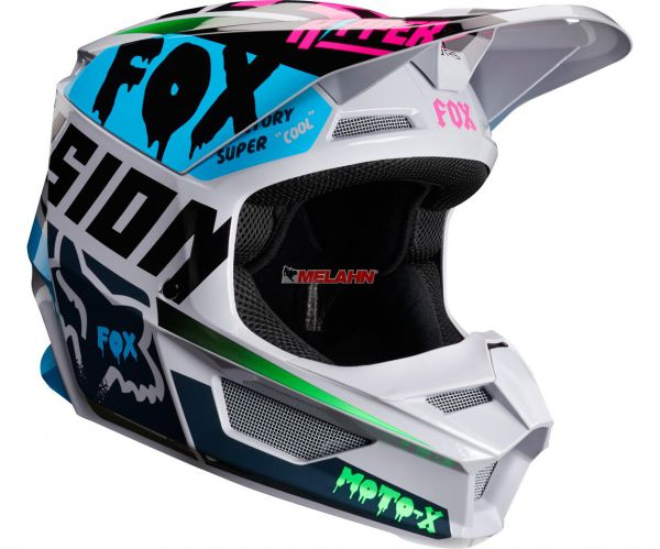 FOX YOUTH Helm: V1 Czar, light grey