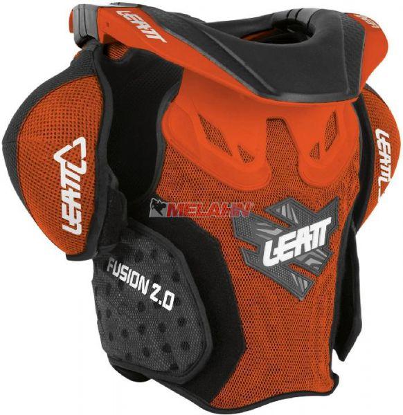 LEATT Kids Brustpanzer: Fusion 2.0, orange, XXL