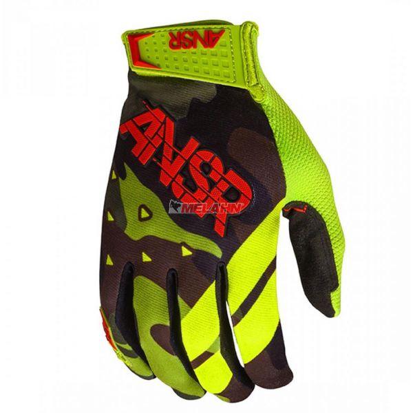 ANSWER Handschuhe: Elite, schwarz/camo