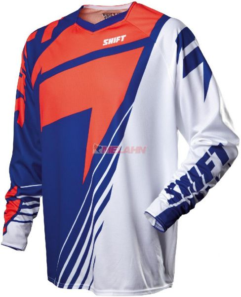 SHIFT Hemd: Faction LE Chad Reed, weiß/blau/rot