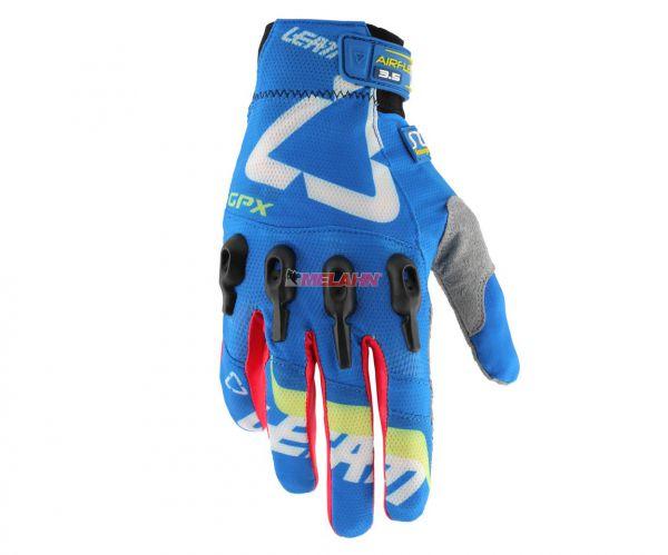 LEATT Handschuh: GPX 3.5 X-Flow, blau