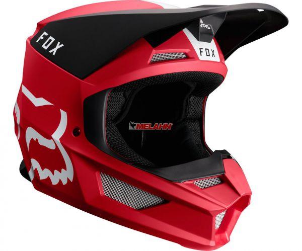 FOX Helm: V1 Mata, rot/schwarz/weiß