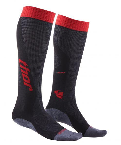 THOR Socke (Paar): MX Coolmax® lang, rot/schwarz