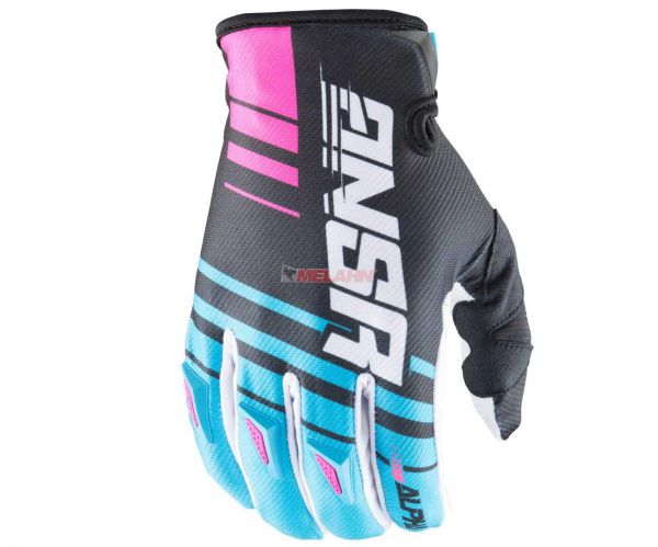 ANSWER Handschuh: Alpha, cyan/weiss/schwarz