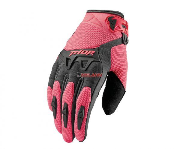 THOR Girls-Handschuh: Spectrum, grau/coral