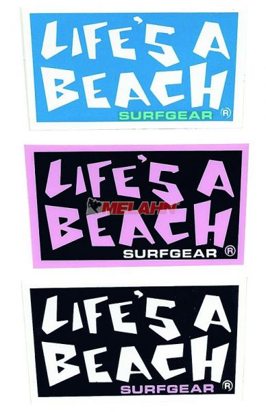 LIFES A BEACH Aufkleber Logo, 7,5x4cm