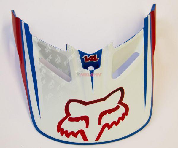 FOX Helmschirm: V4 Reed Replica 2013 Visor, rot/weiß/blau