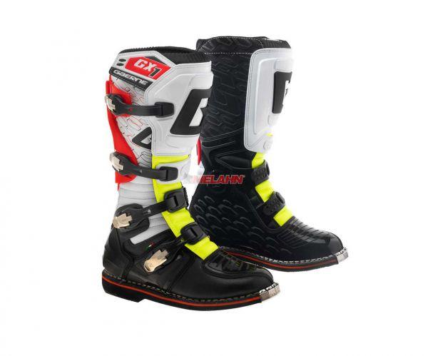 GAERNE Stiefel: GX-1, schwarz/rot/gelb
