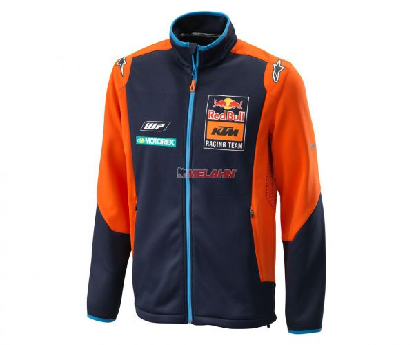 KTM RED BULL Softshelljacke: Replica Team, blau/orange