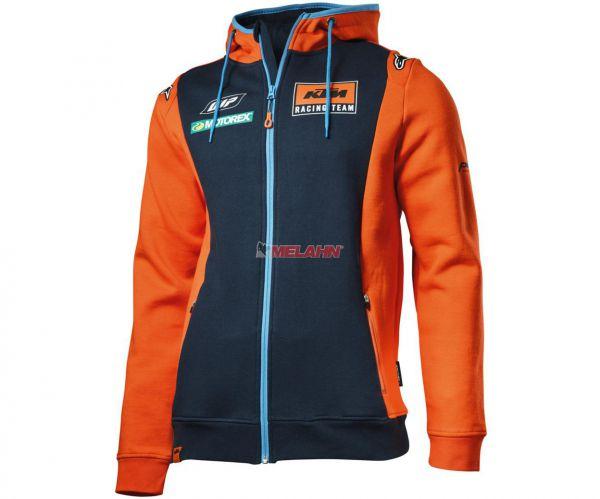 KTM Zip-Hoody: Replica Team, blau/orange