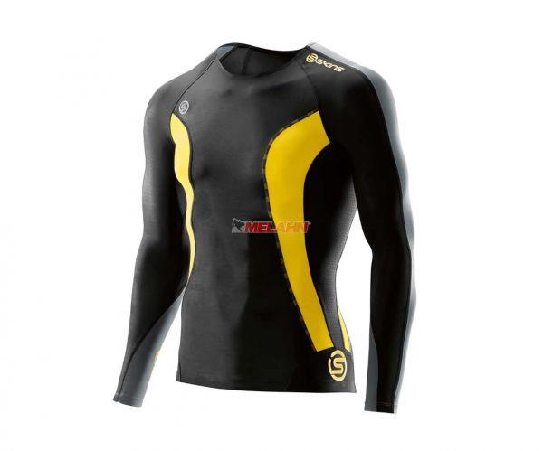 SKINS Kompressions-LS-Shirt: DNAmic, schwarz