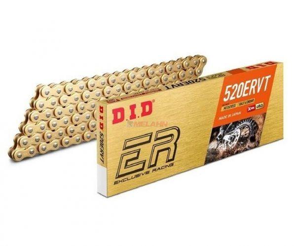 D.I.D. X-Ring Kette 520 ERVT gold, 118 Glieder, Clipschloss