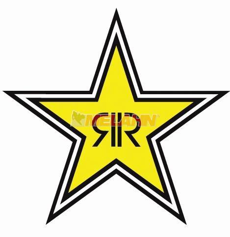 FX Aufkleber: Rockstar Stern-Logo, 30cm