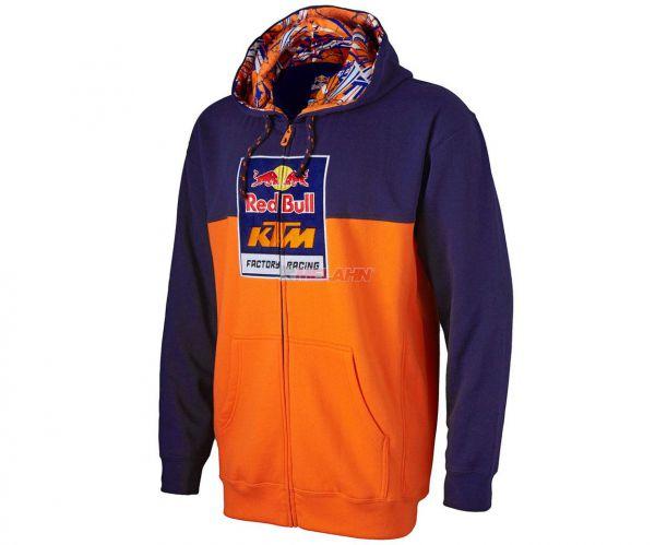 KTM RED BULL Zip-Hoody: KTM Racing Team, navy/orange