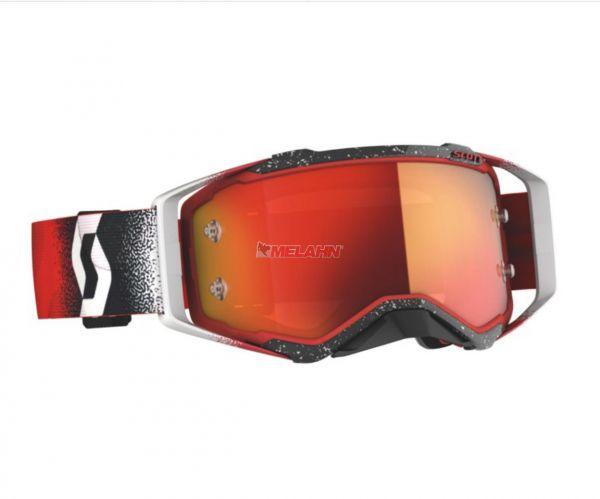 SCOTT Prospect Goggle Motocross MTB MX Enduro Cross Brille weiß-rot orange verspiegelt