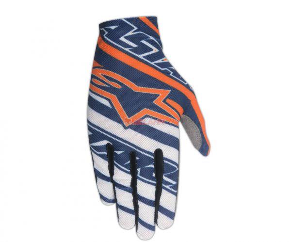 ALPINESTARS Handschuh: Dune, blau/weiß/orange