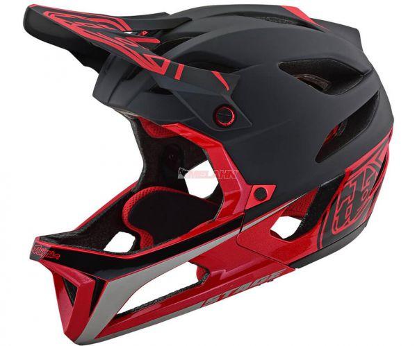 TROY LEE DESIGNS MTB-Helm: Stage (MIPS), Stealth black/red