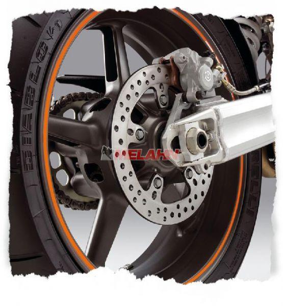 KTM Felgenringaufkleber 17 Zoll, orange