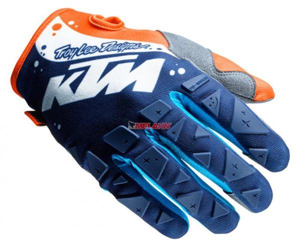KTM TLD Handschuh: SE , blau/weiß/orange