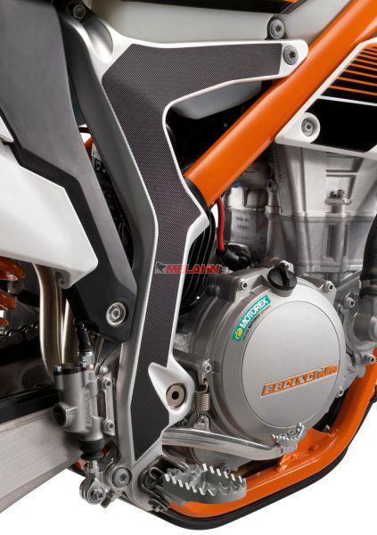 KTM Rahmenschutz-Aufkleber (Paar) Freeride 12-, schwarz