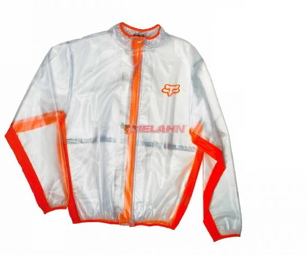 FOX Regenjacke: Fluid, klar/orange