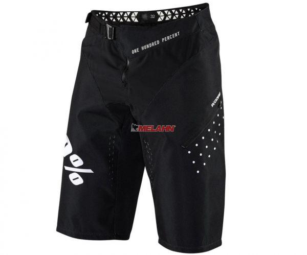 100% MTB-Shorts: R-Core DH, schwarz