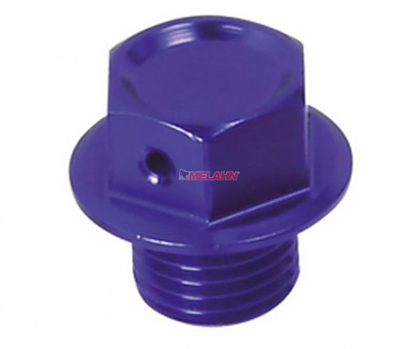 ZETA Aluminium-Ölablassschraube magnetisch M12x12 1.5 für Husaberg 09-14 / HUSQVARNA 14-, blau