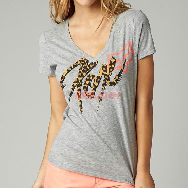 FOX Girls T-Shirt: Intense, grau