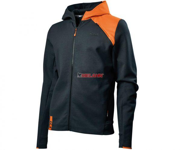 KTM Zip-Hoodie: Unbound, grau/orange