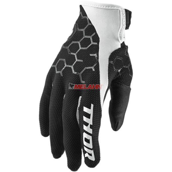 THOR Handschuh: Draft, schwarz/weiß
